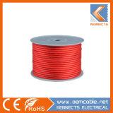 Американский сортамент проводов красного матового автомобильный кабель питания