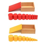 Kind-pädagogische hölzerne Farben Knobless Zylinder-Ausgleich-Blöcke, die Spielzeug erlernen