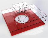 明確なアクリルの大きいケーキの破裂音の立場