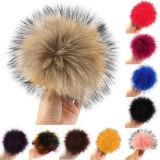 Sfera della pelliccia del Raccoon del Faux del Beanie lavorata a maglia Pompom all'ingrosso della pelliccia