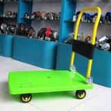 apfelgrüne Hand-LKW-geräuschlose faltende Laufkatze der Plattform-150kg