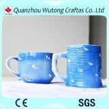 Items de cerámica promocionales pintados hechos a mano del turista de la taza