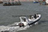 Precio del barco de la fibra de vidrio de Liya, bote patrulla para la venta