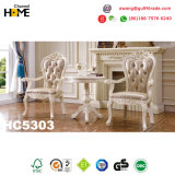 Vector de cena de madera europeo de los muebles antiguos con el mármol (HC5303)