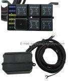 6 atalajes impermeables electrónicos de cableado del rectángulo del relais del fusible del rectángulo de control del circuito de sistema de relais del panel del interruptor de la cuadrilla DC12V para el barco auto rv marina Cara del carro del coche