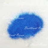 Polvere blu di scintillio dell'ombretto di colore per Halloween