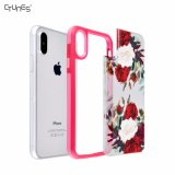 Cas dur de couverture de téléphone cellulaire de plaque arrière de fleurs de PC interchangeable de butoir coloré de l'impression TPU pour l'iPhone X d'Apple