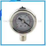 40mm水清浄器すべてのステンレス鋼の圧力計の底接続
