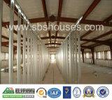 Grande Chambre de ferme avicole de structure métallique de Cubage