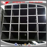 40X80 mmの黒い長方形の空の鋼鉄管