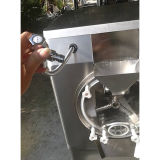 Lote comercial de acero inoxidable congelador máquina de helados para la venta