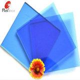 3mm de verre teinté bleu foncé/verre flotté teinté bleu