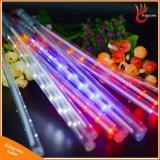 Indicatore luminoso solare decorativo della stringa dell'albero dei 360 del LED della meteora tubi della pioggia