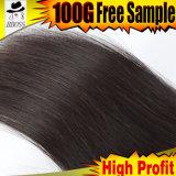 Vente chaude dans le cheveu 10A droit brésilien de 100%