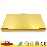 Sostenedor de la tarjeta de visita del acero inoxidable del oro para los items del regalo