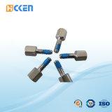China stellte Präzision CNC-maschinell bearbeitendrehenEdelstahl-Schrauben mit Nylonänderung- am objektprogrammteilen her