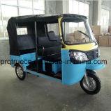 4回の打撃が付いている200ccタクシーの乗客の三輪車の人力車