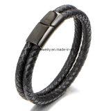 Leistungsfähiges europäisches und amerikanisches Mann-ledernes Seil-spinnendes Armband (BL2851)