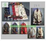 2018 nueva moda Mantón de seda satén impresos Señora Bufanda