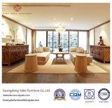 Empfindliche hölzerne Hotel-Möbel für Wohnzimmer-Sofa stellten ein (YB-WS-88)