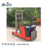 Standplatz auf Typen - eine 2 Tonnen-schützen elektrischer Reichweite-Gabelstapler-Reichweite-LKW mit Griff und Pedal