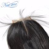 capelli cinesi del Virgin dell'essere umano della parte 4X4 delle chiusure centrali diritto 100% del merletto