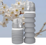 18 унции серый Food-Grade силиконовые съемные бутылка воды