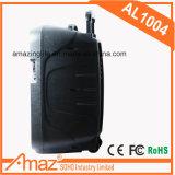 Las funciones de Karaoke Mulitiple recargable exterior Trolley con Bluetooth Altavoz de 10 pulg.