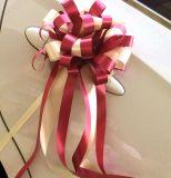 ギフトのパッキングのための装飾的な結婚式のGrosgrainの白いリボン