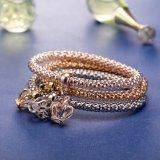 형식 지르콘 다이아몬드 다중층 크라운 팔찌 팔찌 보석