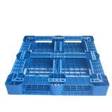 Pálete plástica bilateral usada armazém da alta qualidade da pálete