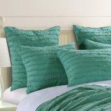 Katoenen die Beddegoed in Blue&Green wordt geplaatst (DO6057)