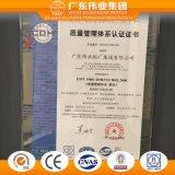 Porte thermique européenne personnalisée de tissu pour rideaux d'interruption d'aluminium/aluminium/Aluminio d'alliage de type