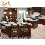 Gabinete de cozinha clássico americano da madeira contínua do estilo