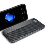 El TPU Slim Fit caso flexible de fibra de carbono ligero diseño de tapa a prueba de golpes para el iPhone 7/8/X.