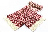 Écharpe tricotée lourde d'impression d'onde mélangée par couleur chaude unisexe de l'hiver (SK168)