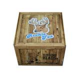 La impresión de grano de madera caja de embalaje de cartón ondulado con la costumbre
