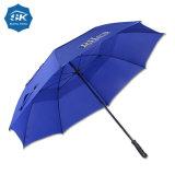 カスタム青い二重おおいの防風の女性コンパクトな傘