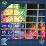 Collant d'étiquette d'hologramme avec l'effet transparent d'aluminium de lavage