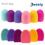 Tarjeta cosmética de la limpieza del depurador del huevo del guante del producto de limpieza de discos de cepillo del silicón del maquillaje