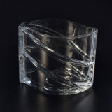 Luxury Clear Candle Container with Popular Pattern