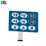 Pet Non-Tactile PC Impresión digital de la membrana de la etiqueta de superposición Leypad
