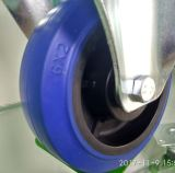 """EU schreiben """" blaue elastische Gummifußrolle der verlegenheits-Hochleistungs6 für Hilfsmittel-Karre"""