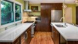 Modernes festes hölzernes vor aufgebautes Küche-Schrank-Holz