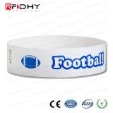 O logotipo personalizado imprimindo Tyvek Pulseira RFID para locais de desporto