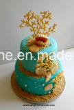 Gâteau décorant le moulage de fondant de silicones