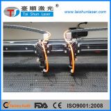 精密な二重ヘッドファブリック織物の切断レーザー機械
