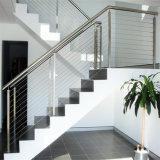 Балюстрада штанги балкона Inox 304&316 ранга/Railing кабеля/балюстрада провода