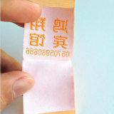 Одиночная сторона покрыла Nylon напечатанный тафтой ярлык ткани