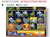 La selva 30 Line&#160 salvajes; Máquina de juego de fichas de la máquina de juego de la máquina de juego de la ranura